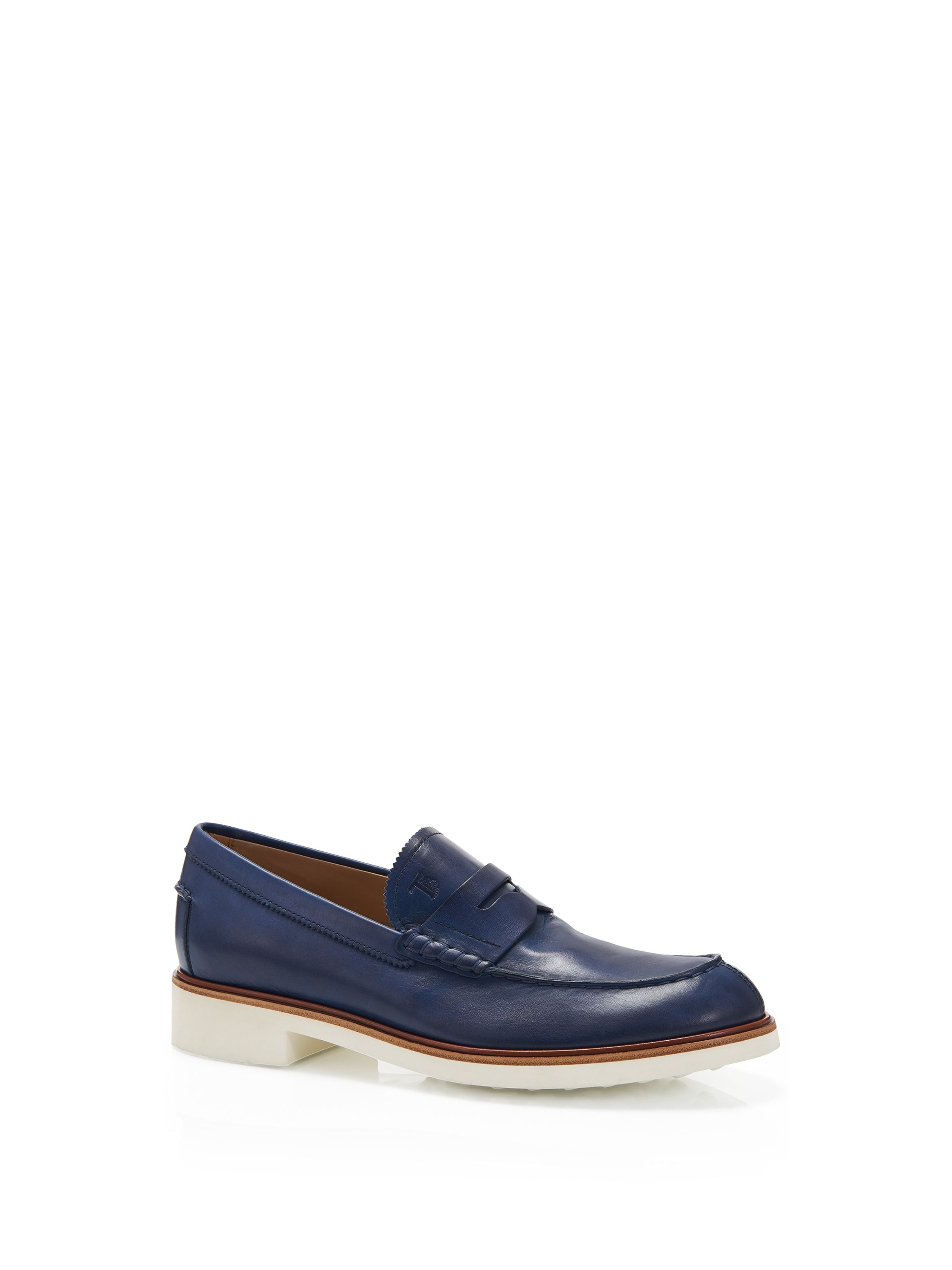 77afacf2eda2 Tod s - Mocassino In Pelle - XXM0TD00010D90U803 - Soft leather penny  loafers featuring a natural-