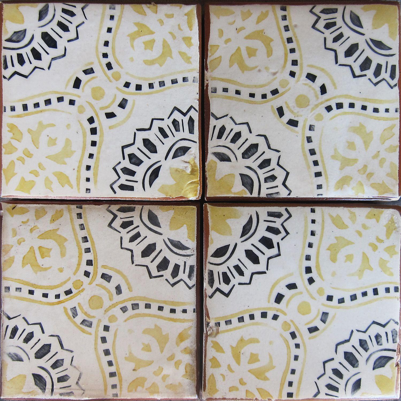 Beautiful Artisan Terra Cotta Tile Paris Metro 10 Tabarka