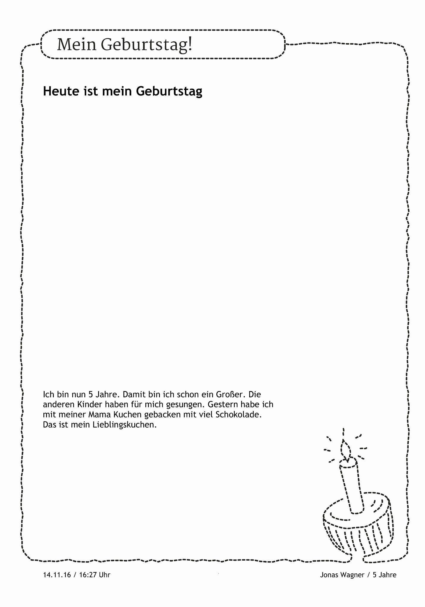 Number 5 Coloring Sheet Heute Ist Mein Geburtstag Spruche Zum