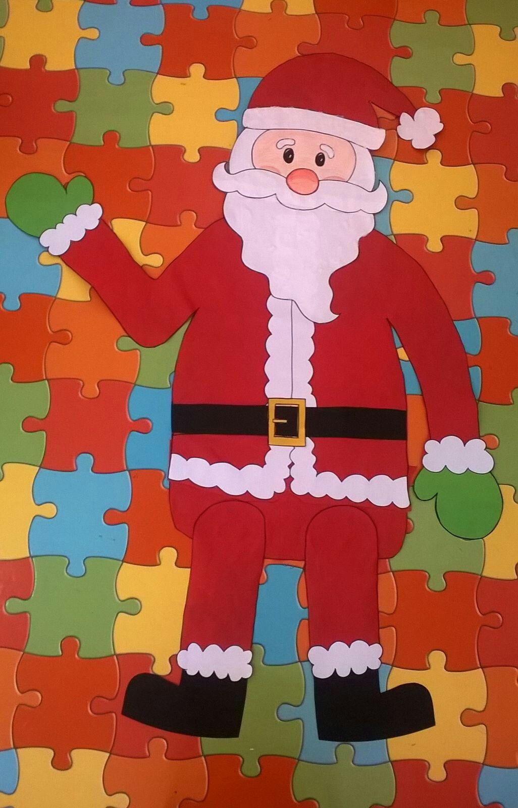 Papa Noel De Papel Decoracion Navidena Infantil Adornos De Navidad - Manualidades-navideas-papa-noel