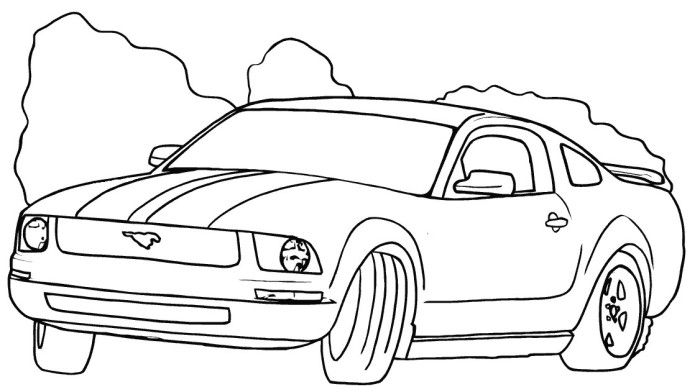 mustang coloring pages for kids - photo#21