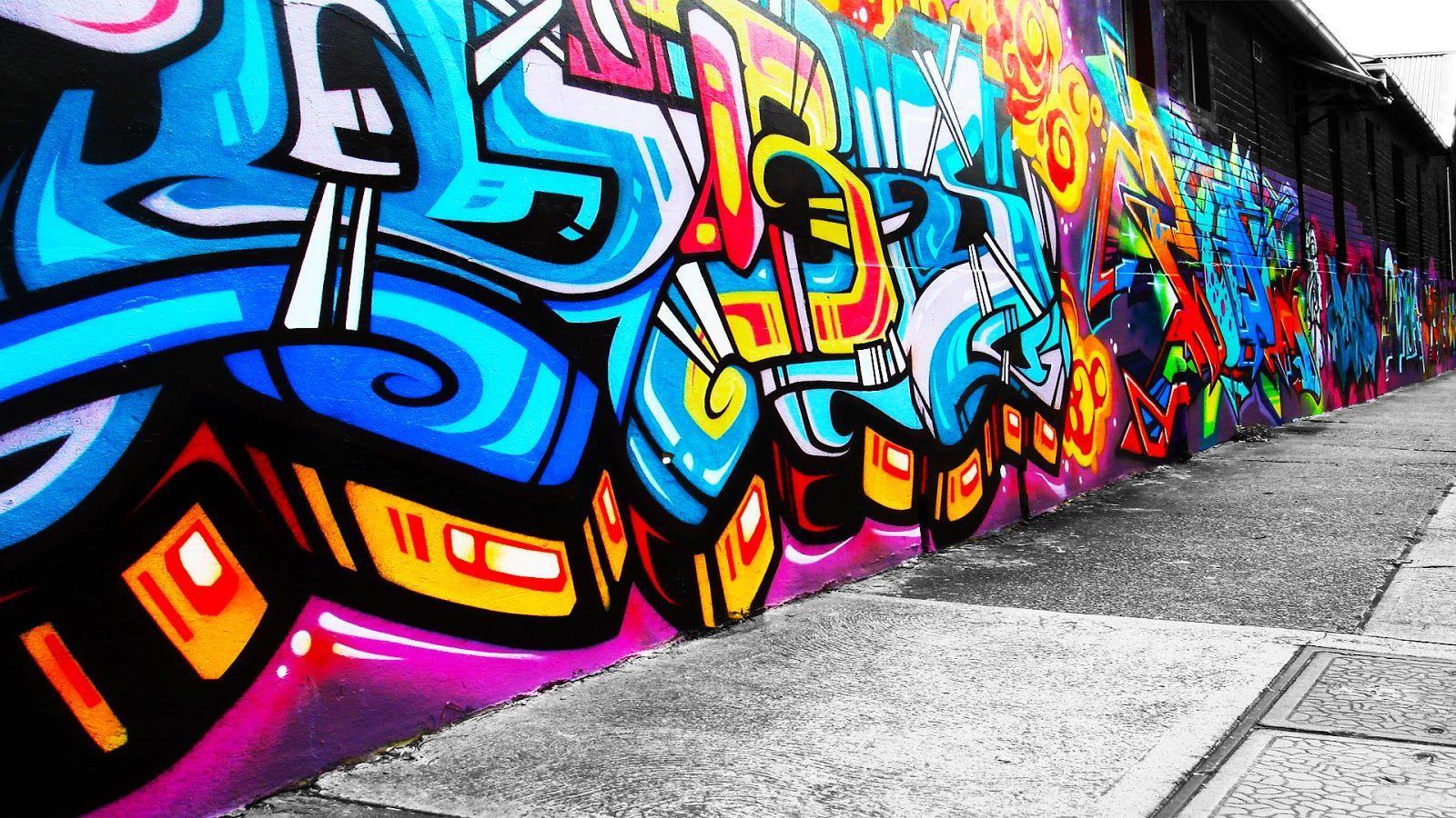 Wall Art Graffiti Background