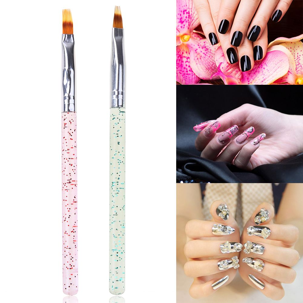 Acrylic Nail Art Carving Paint Brush Professional French Gradient 3D ...