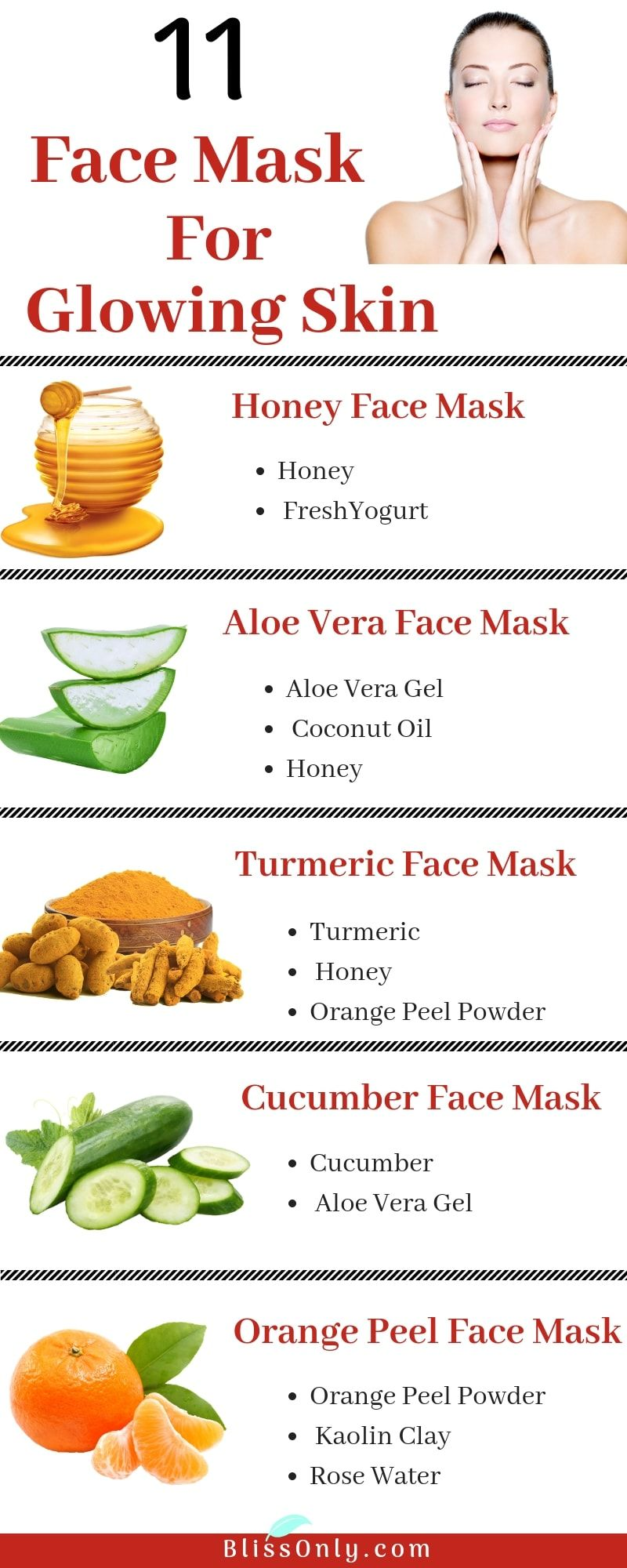 11 Simple Homemade Face Masks For Glowing Skin Blissonly Glowing Skin Mask Face Mask Diy Acne Cucumber Face Mask