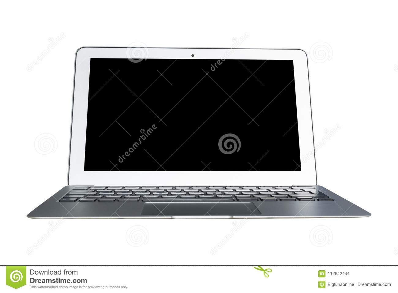 Laptop Computer Pc With Blank Screen Mock Up Isolated On White Background Laptop Isolated Screen Pc Computer Laptop Computers Computer