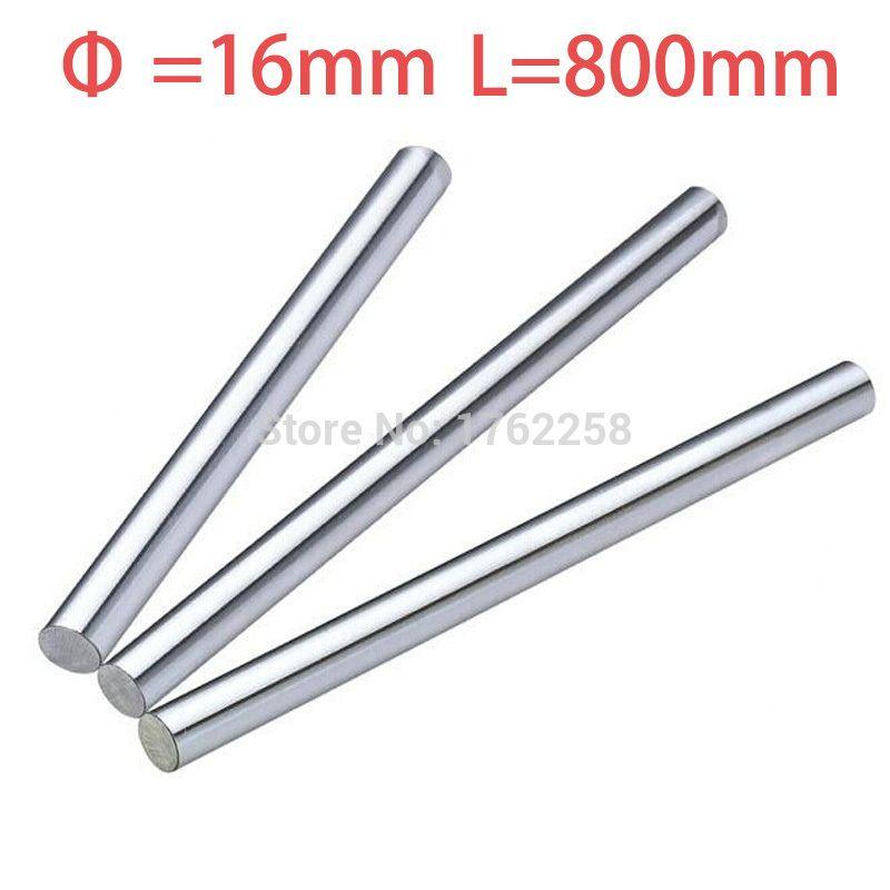 1pcs 16mm 16x800 linear shaft 3d printer 16mm x 800mm Cylinder Liner Rail Linear Shaft axis cnc parts