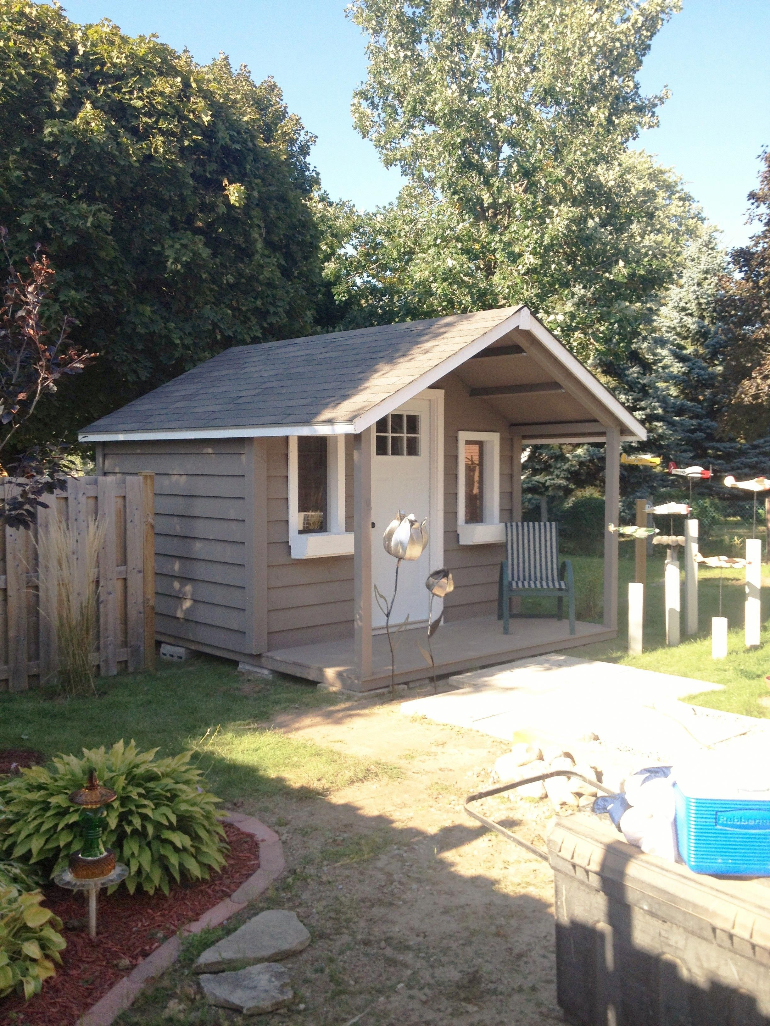 10x10 Medium Classic With 4 Foot Gable Porch Gardenshedideas Backyard Sheds Backyard Shed Shed With Porch