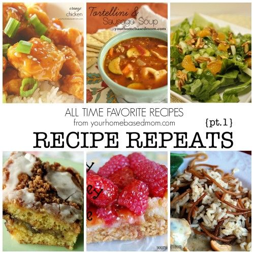 Resharing some of my all time favorite recipes with Recipe Repeats
