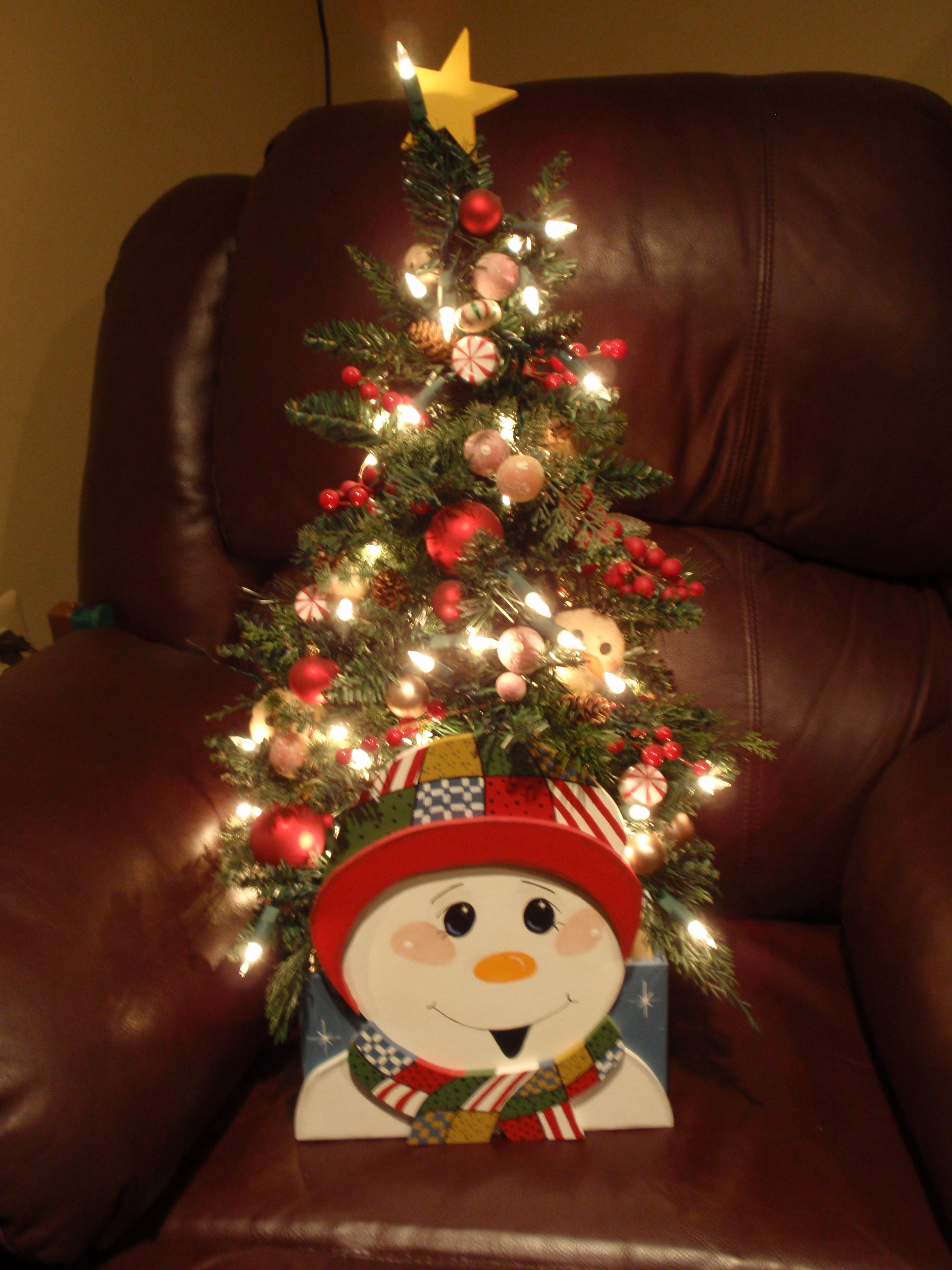 Patchwork Snowman tree Snowman tree, Christmas