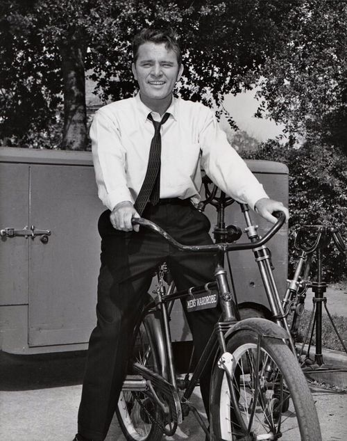 Richard Burton Rides A Bike Courtesy Of Men S Wardrobe Richard