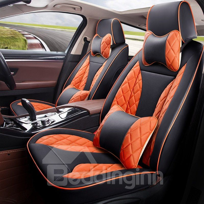 Dynamic 3d Shape Sports Style Leather Universal Fit Car Seat Covers Car Seats Leather Car Seats Fit Car