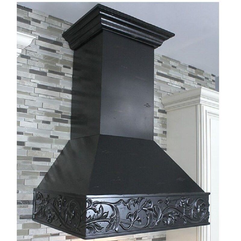 36 Hand Crafted Designer Wood 1200 Cfm Ducted Wall Mount Range Hood In 2020 Wall Mount Range Hood Range Hood Wooden Range Hood