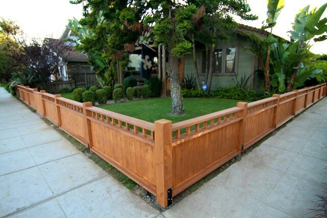 This Looks About The Right Height And Design Of The Front Fence I M Kind Of Liking The Solid Bottom And Small De Backyard Fences Fence Design Front Yard Fence