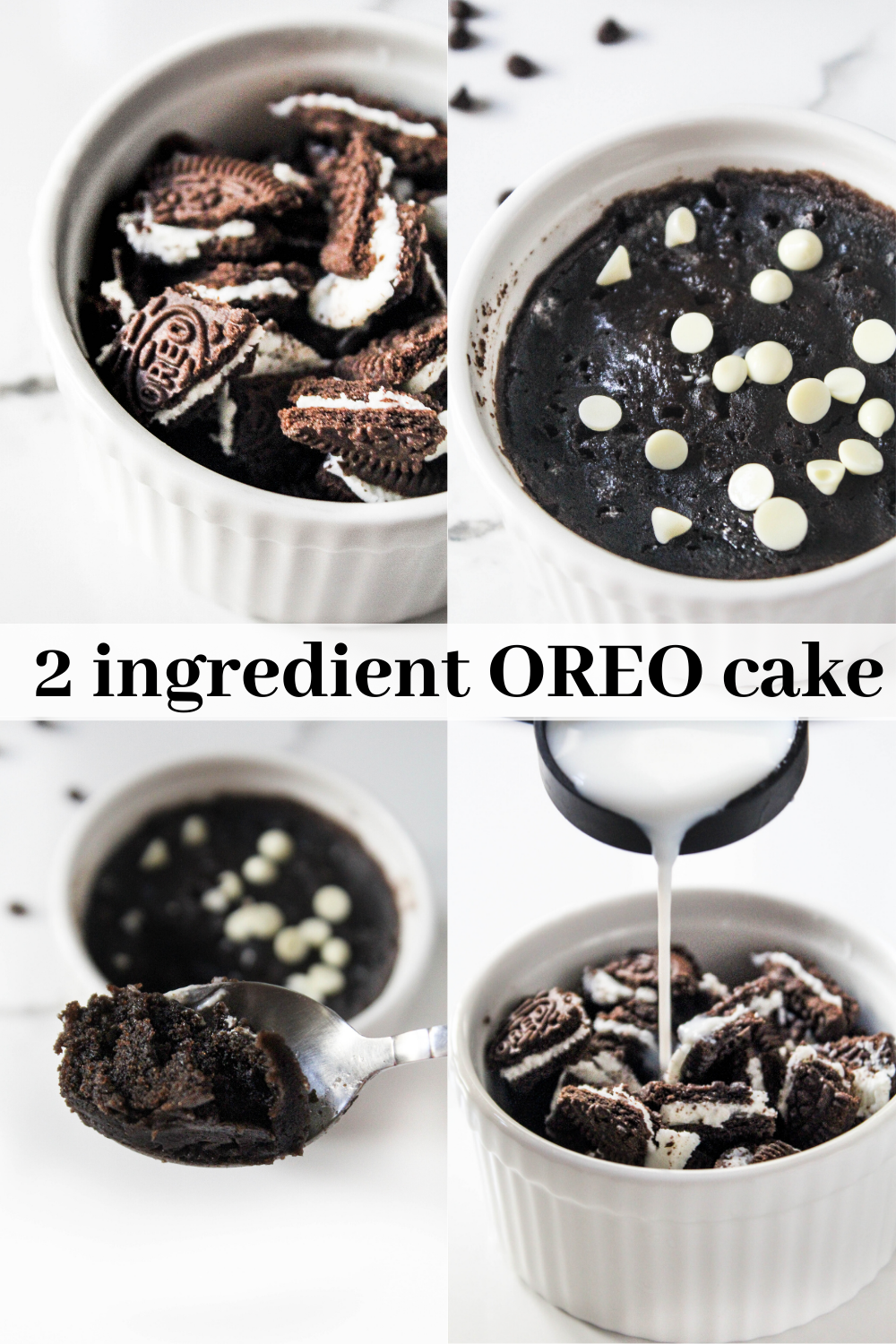 2 ingredient Oreo microwave cake - The Twin Cooking ...