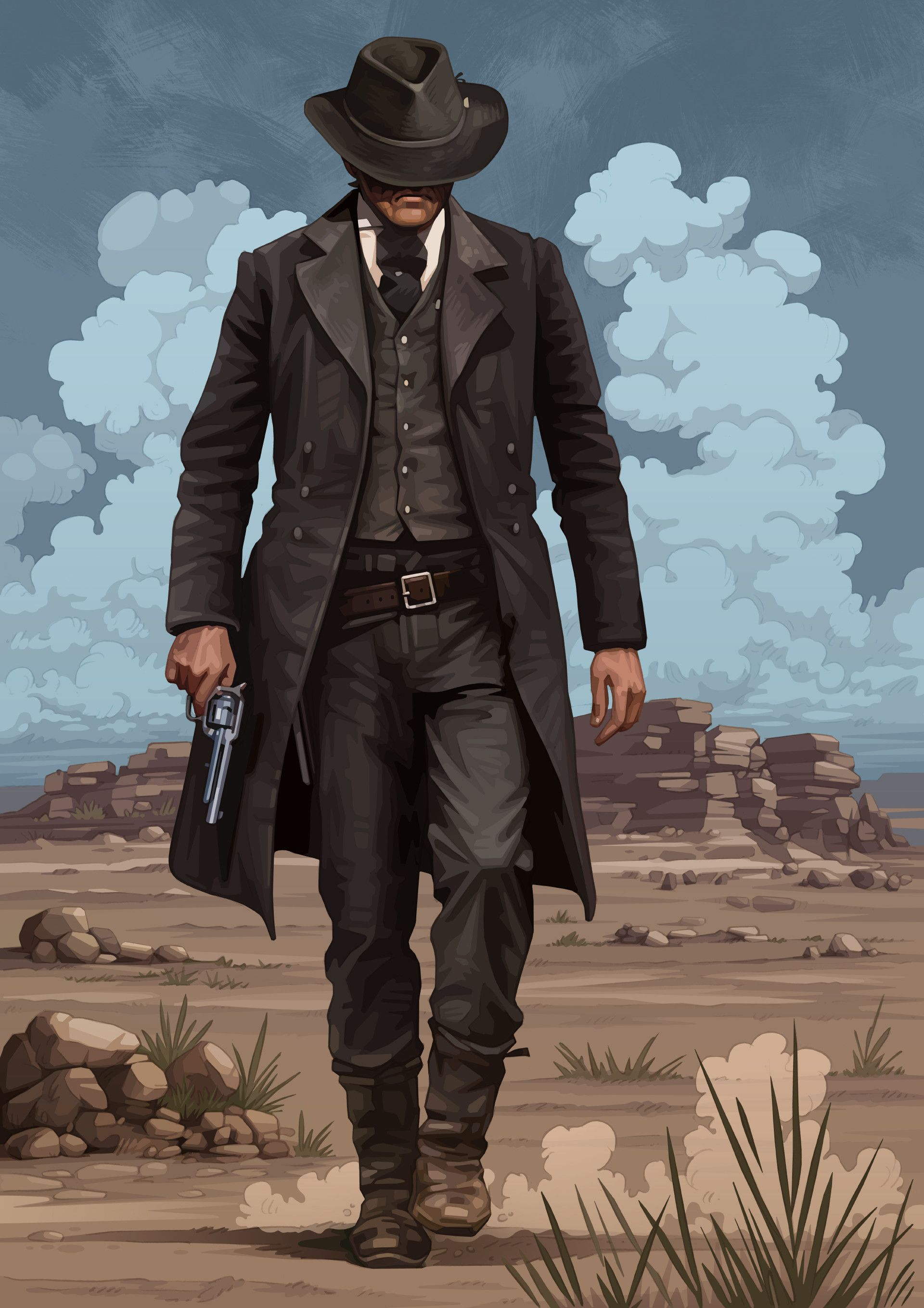 Gunslinger by Brian Taylor Red dead redemption art, Red