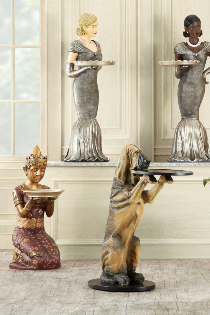 At Your Service In 2020 Statue Decor Antiques