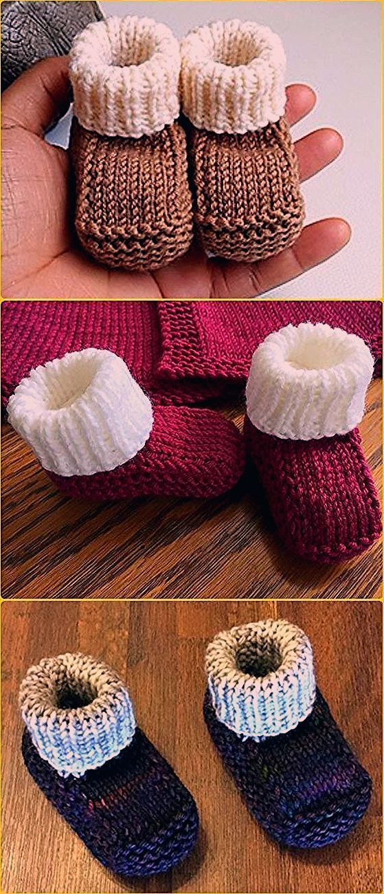 Photo of Knit Newborn Booties Gratis Pattern Video – Knit Ankle High Baby Booties Gratis …