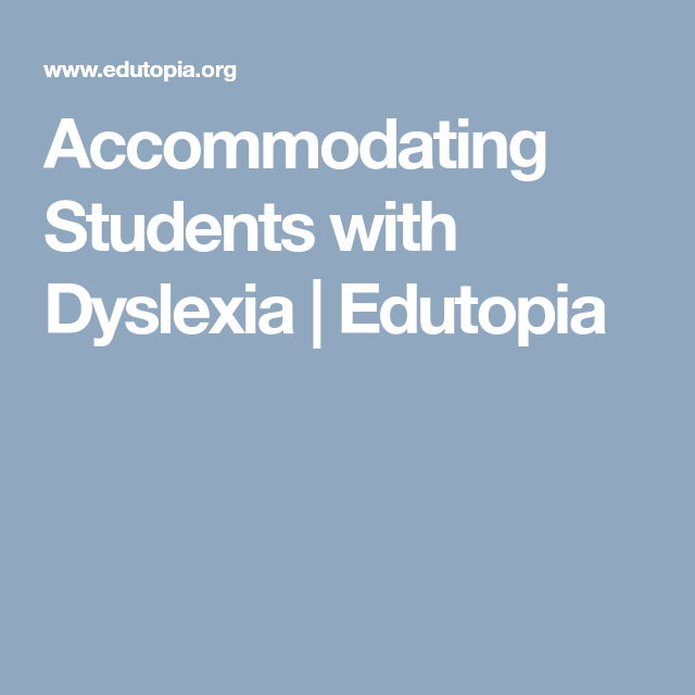 Accommodating Students With Dyslexia >> Accommodating Students With Dyslexia Homeschooling Children With
