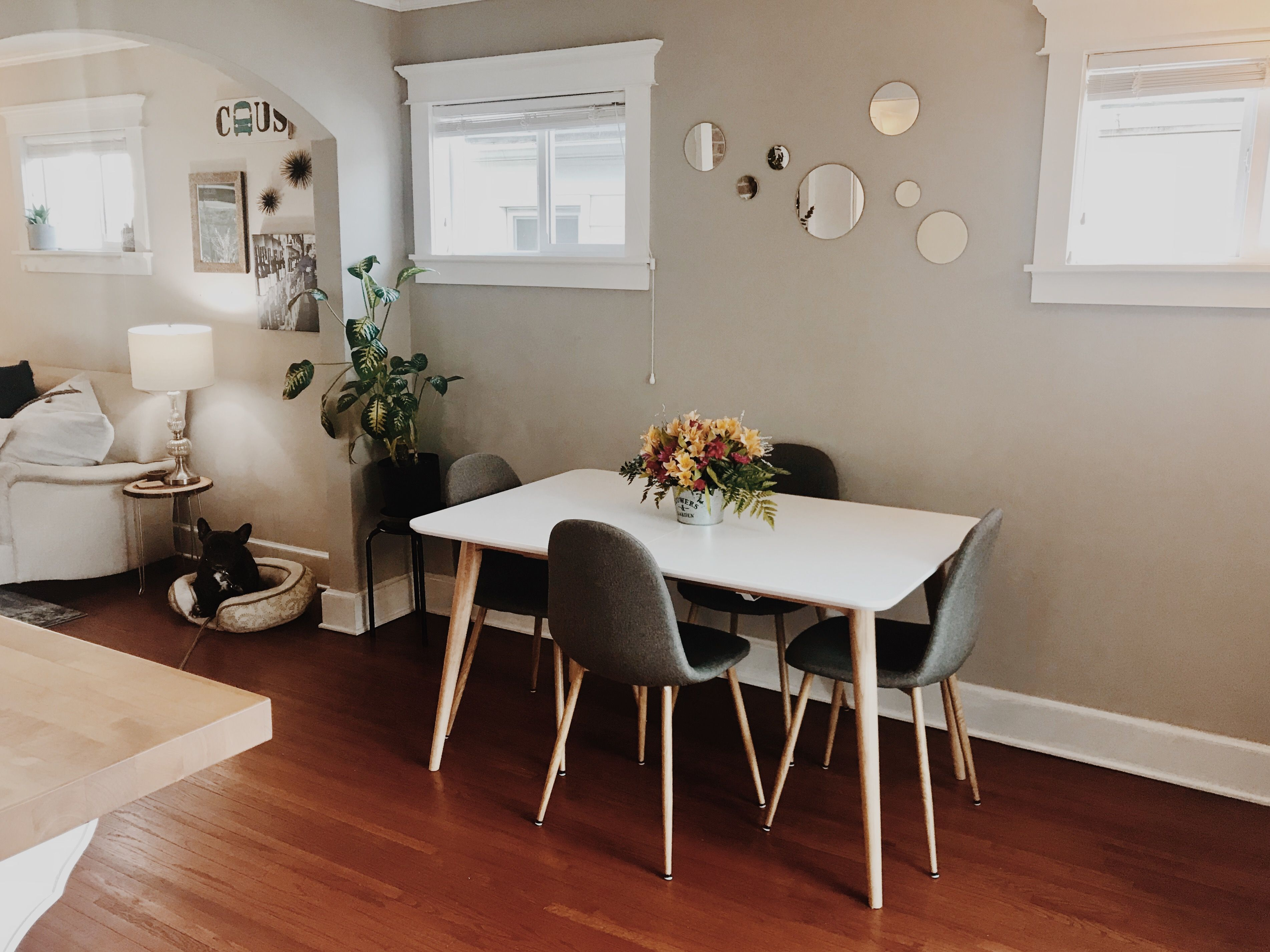 Small Dining Room Mid Century Modern Table And Chairs Design
