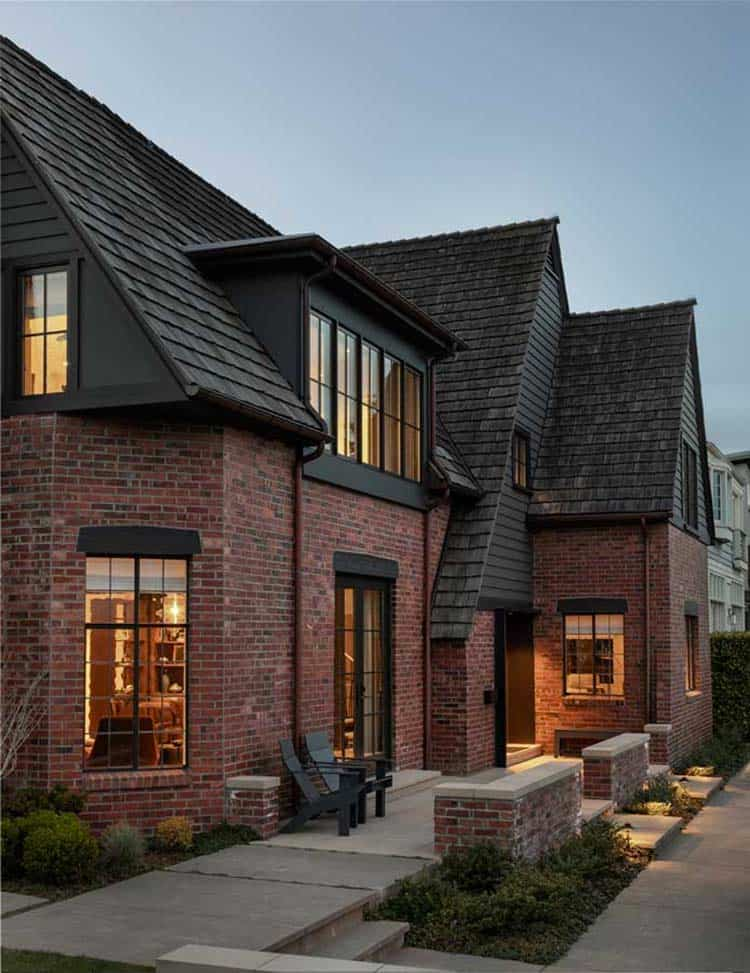 Brilliant renovation of a modern Tudor home overlooking Lake Washington