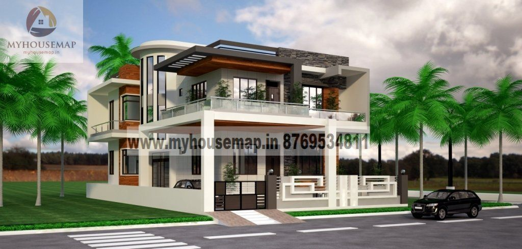 House Front Elevation Designs For Double Floor 4055 Home