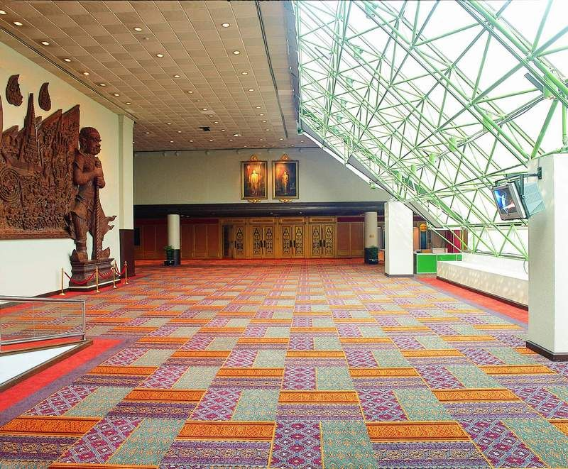 Queen Sirikit Convention Centre, Bangkok. Above Left are the Australian distributor for 1956 by Tai Ping. #carpettile