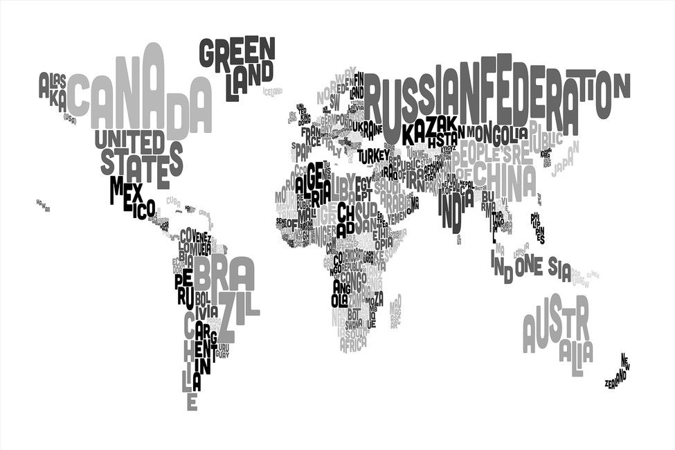 Typographic text world map black grey kids pinterest texts typographic text world map black grey gumiabroncs Gallery