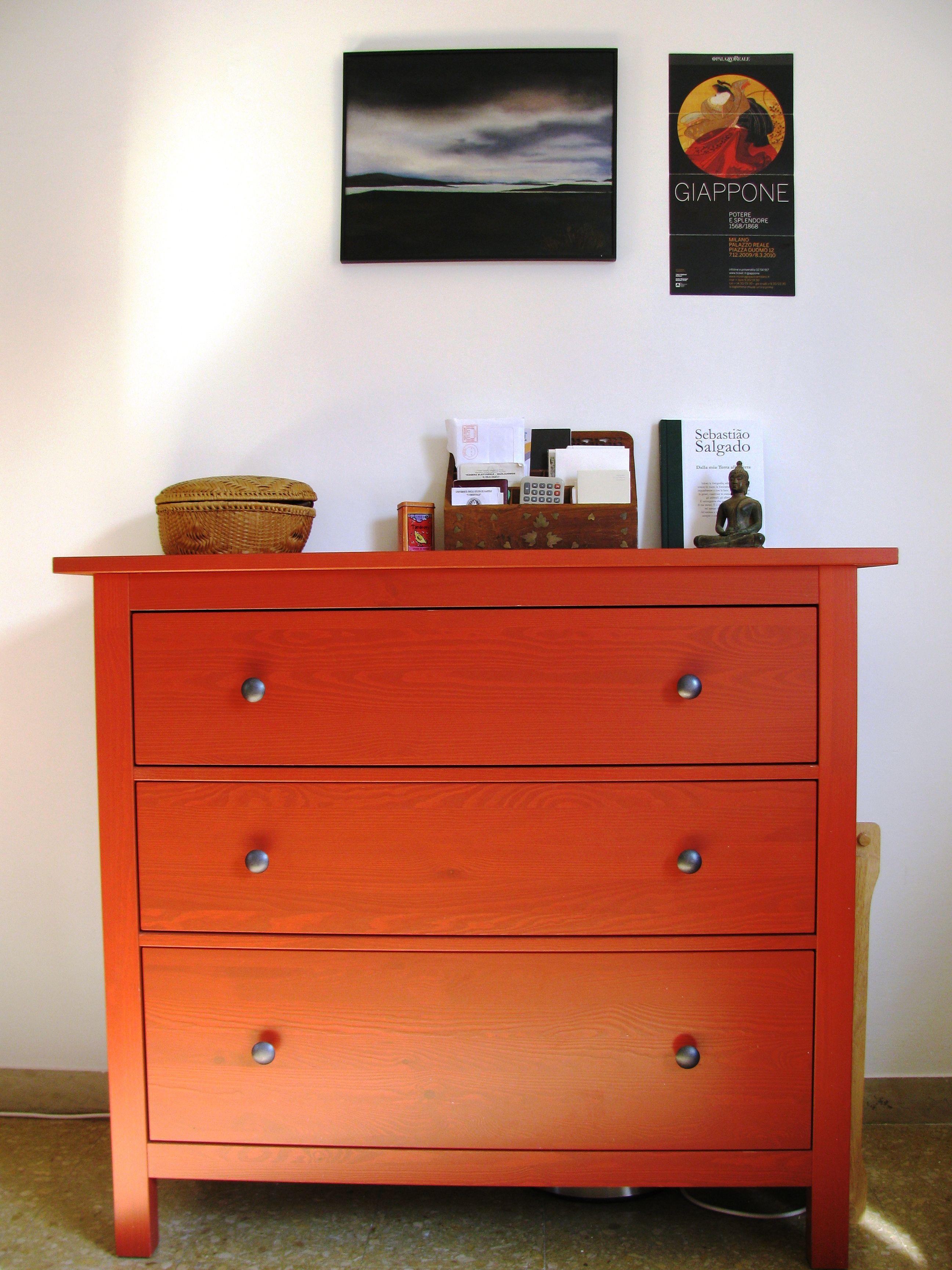 Ikea Hemnes Cassettiera Rossa.My Red Chest Of Drawers Hemnes By Ikea