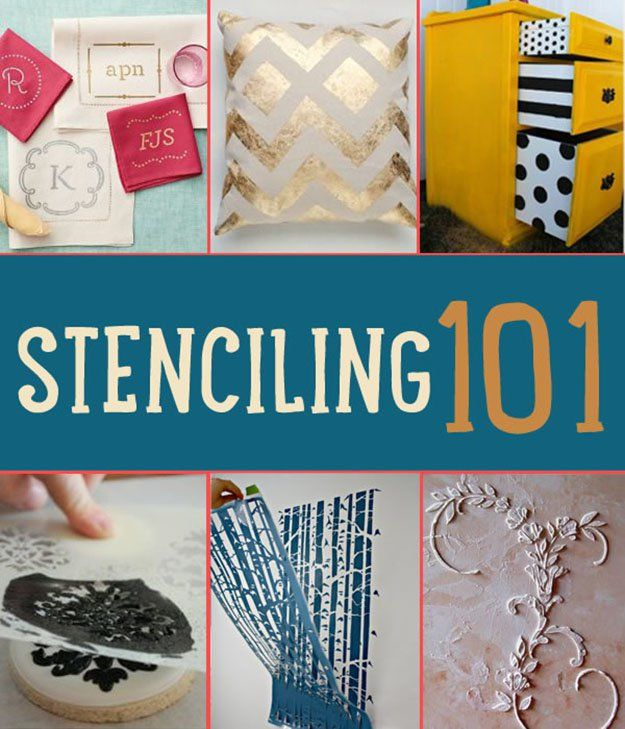 Stenciling 101 | How to Stencil  Yes, I know how to stencil drawings on paper, but this article takes it more in-depth