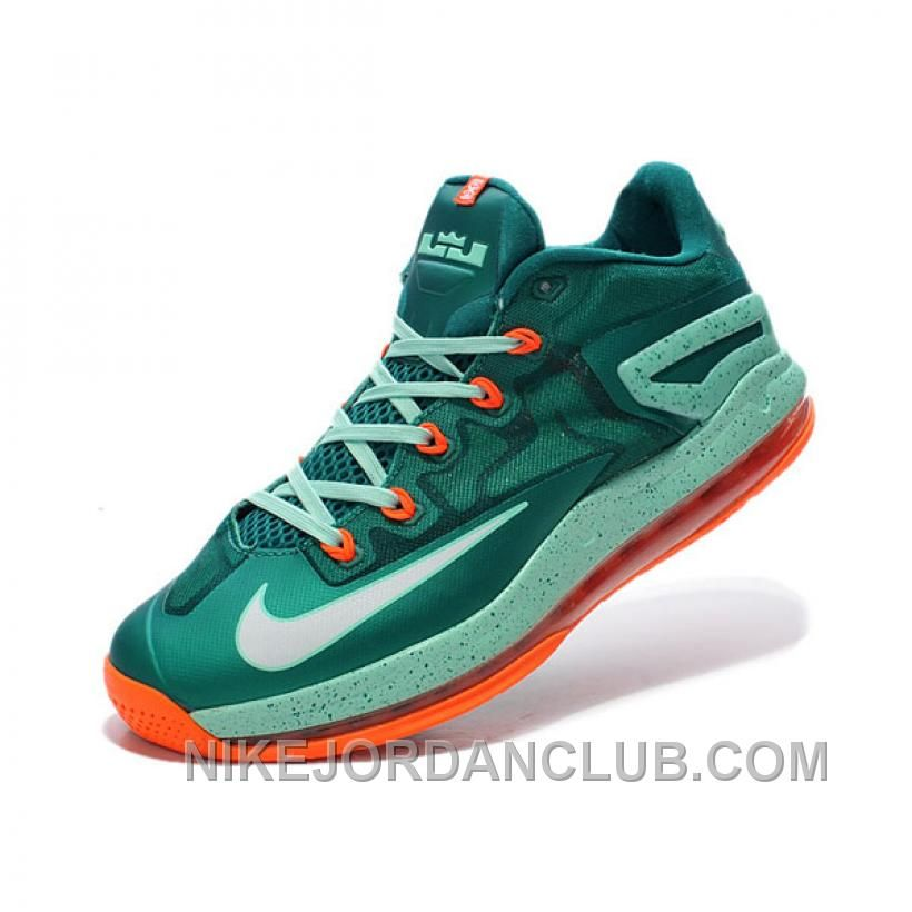 """differently 78a3c 16d56 Nike LeBron 11 Low """"Biscayne"""" Mystic Green White-Medium Mint For Sale"""