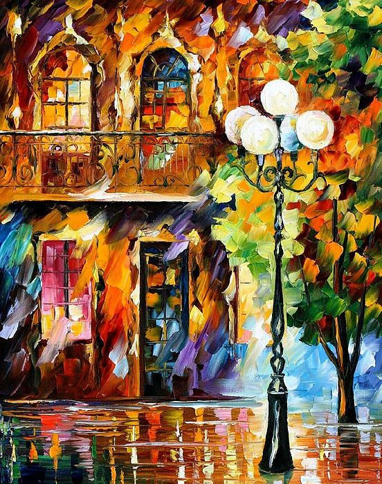 Light Of Love Palette Knife Oil Painting On Canvas By Leonid