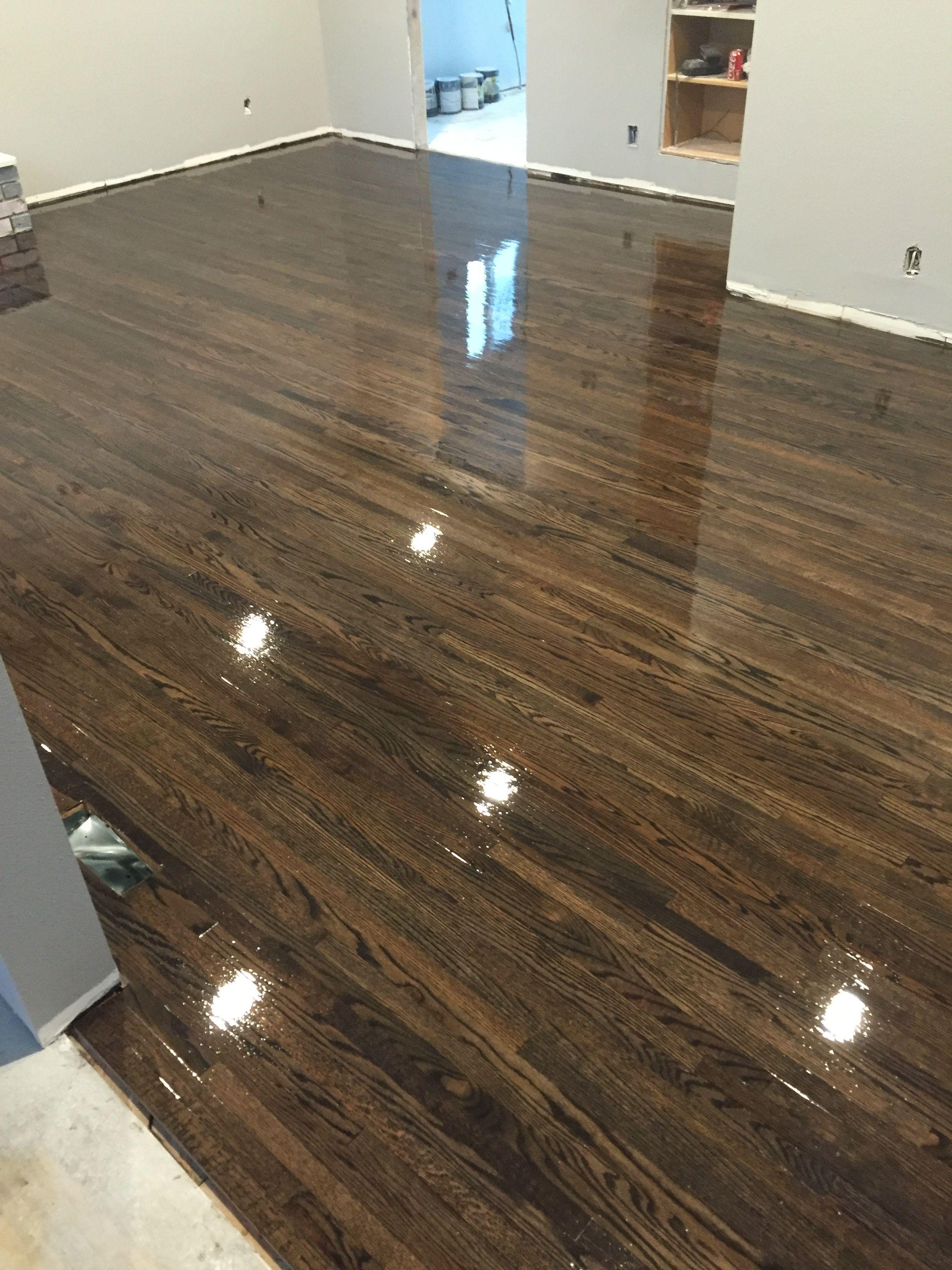 Ebony Red Oak Floor 1 Red oak floors, Oak wood floors