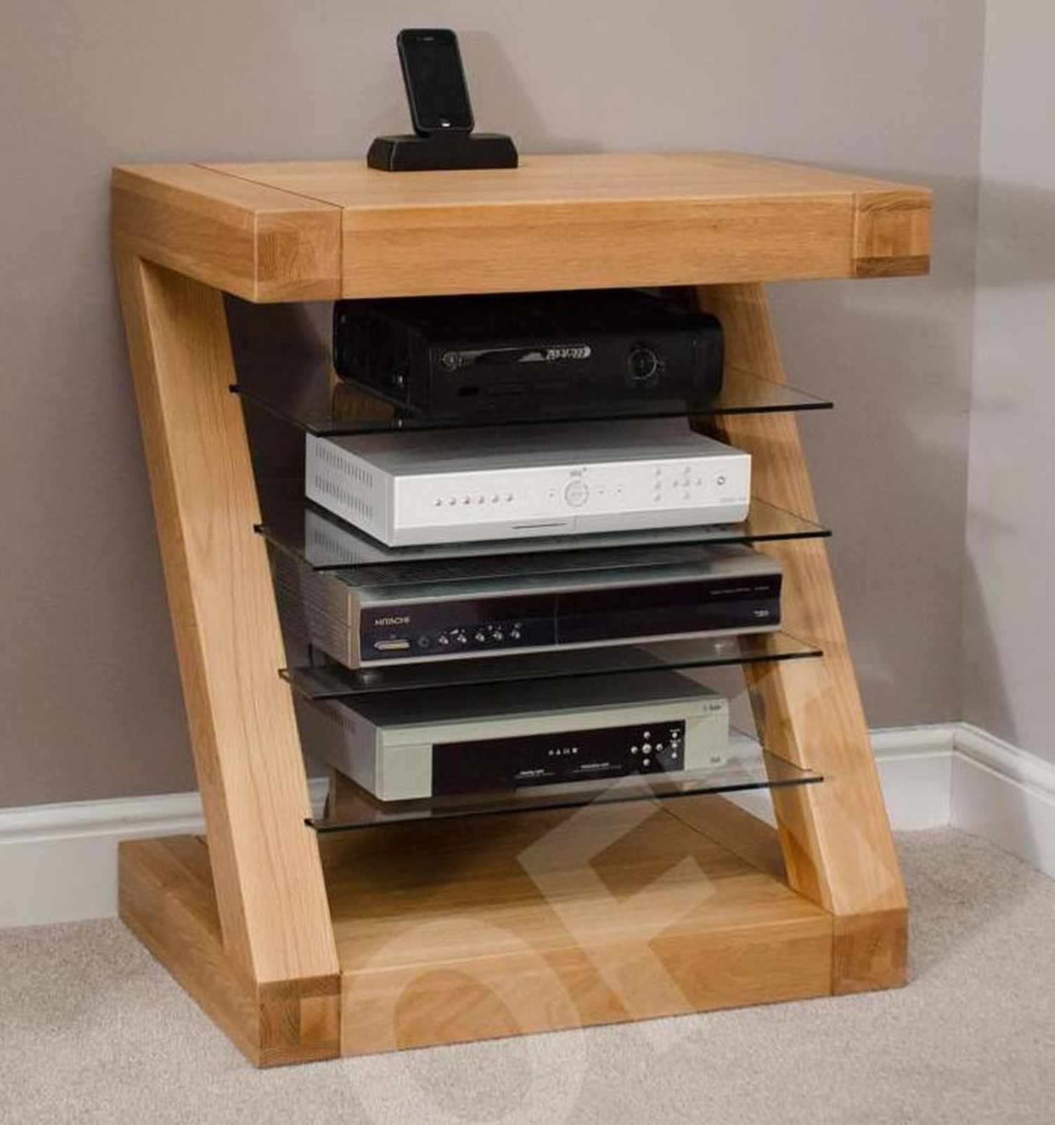 Muebles Hifi Barcelona - Z Hi Fi Cabinet Dvd Console 4 Shelf Storage Unit Solid Oak [mjhdah]http://www.comoficho.com/oc-content/uploads/76/24639.jpg