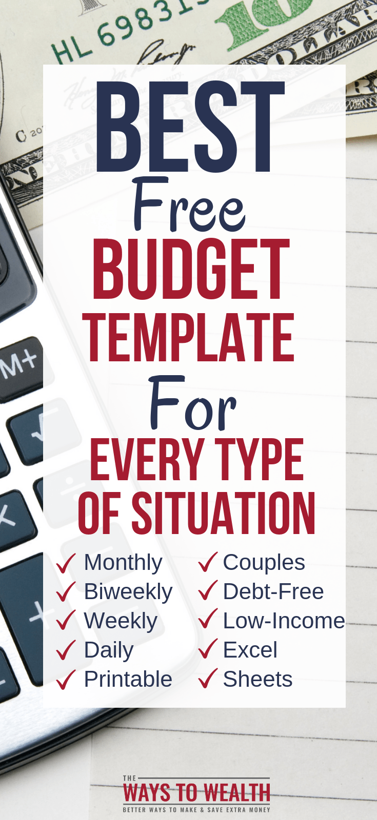 best free personal budget templates for every type of