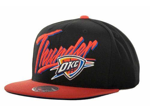 online store 687fc d5579 Oklahoma City Thunder Mitchell and Ness Mitchell   Ness OKC Custom Snapback  Cap Hats