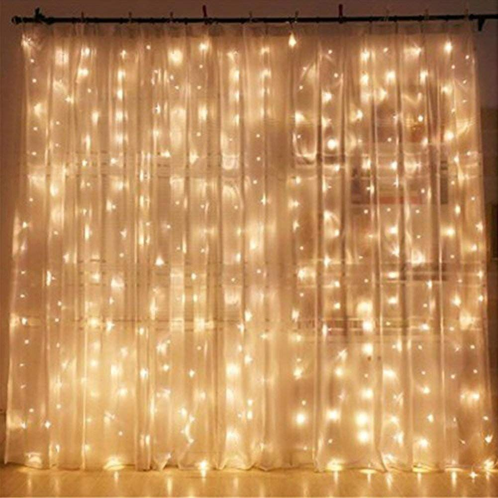 Outside window treatment ideas  amazonsmile  twinkle star  led window curtain string light