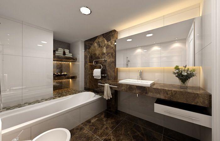 Foto Kleine Badkamer : Kleine badkamer met luxueuze afwerking ideeën voor het huis