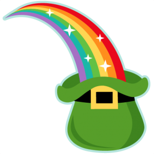 rainbow into leprechaun hat miss kate cuttables svg scrapbook cut rh pinterest ca free animated leprechaun clipart free printable leprechaun clipart