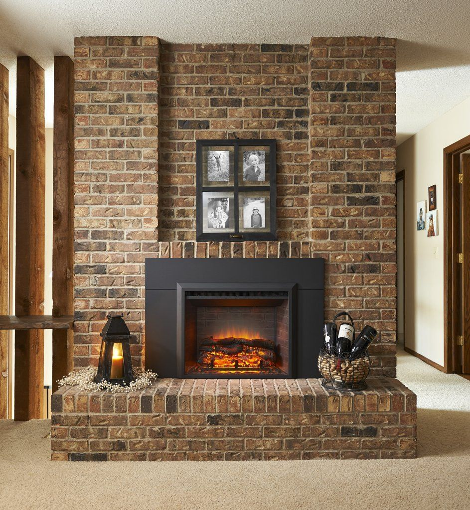 32 X 23 Built In Zero Clearance Electric Fireplace
