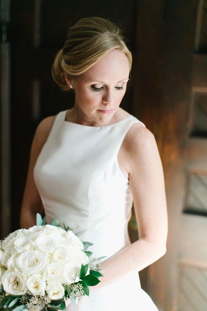 simple, elegant bride