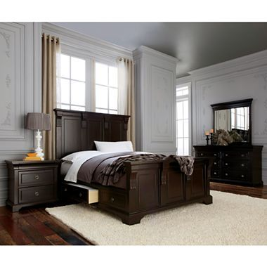Providence bedroom collection with storage jcpenney for Bedroom furniture jcpenney