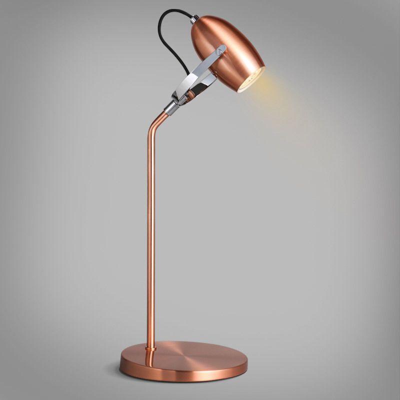 Modern Minimalist Led Copper Adjustable Table Lamp Mini Bell Shade Adjustable Table Lamps Lamp Table Lamp