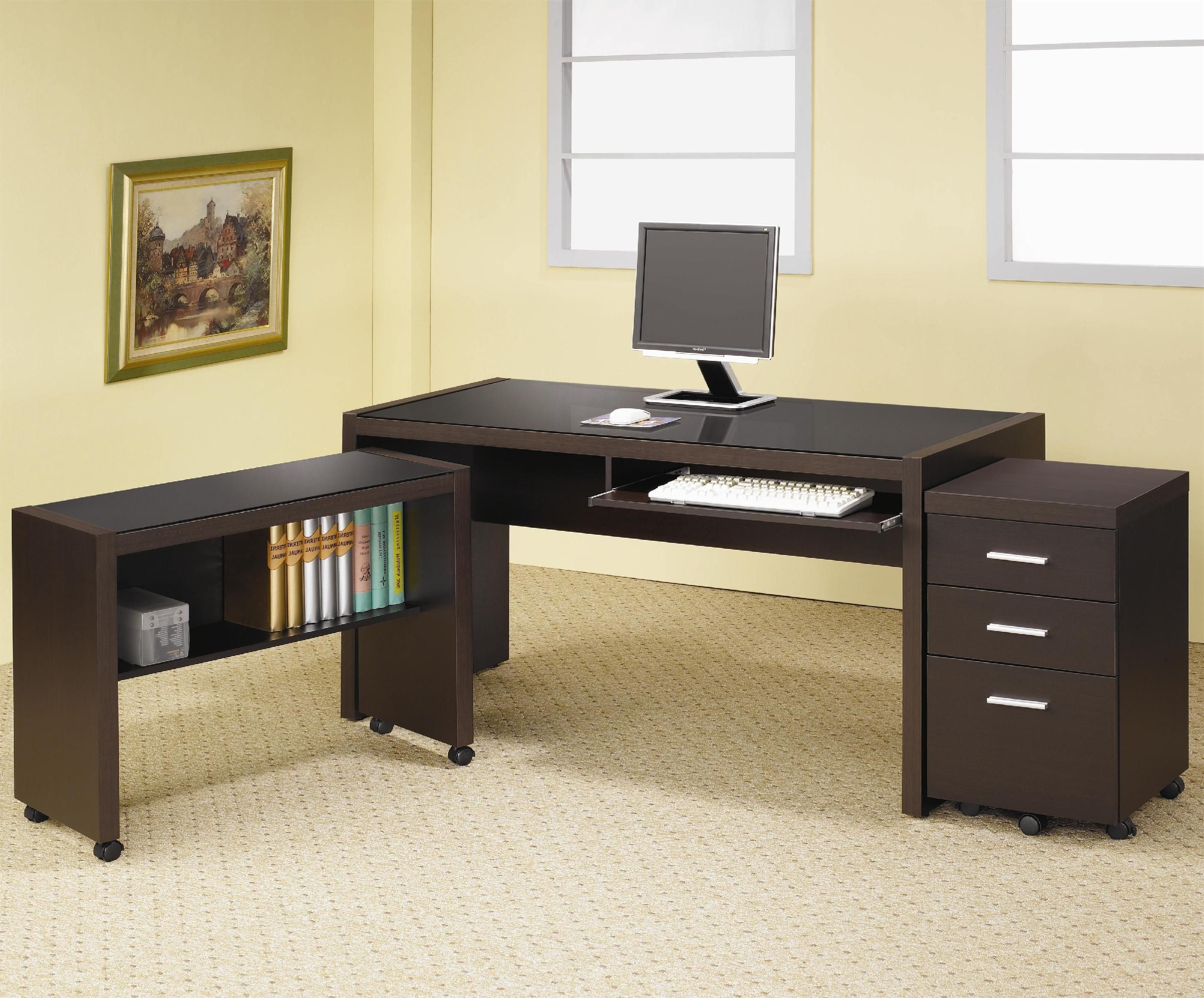 with p prepac depot desk brown wall mounted the shelves desks home eehw