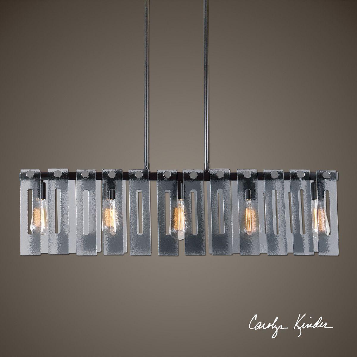 Uttermost Everly Smoke Light Island Light Uttermost - 2 light island chandelier