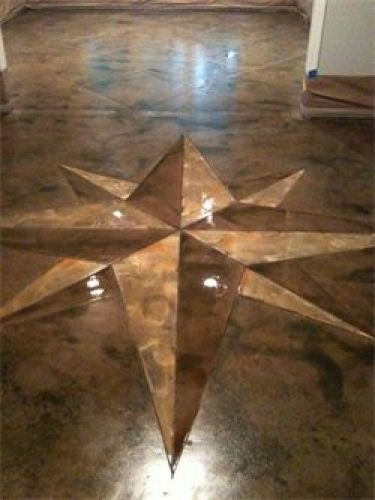 Concrete Acid Stain Floors High Gloss Marble Look In
