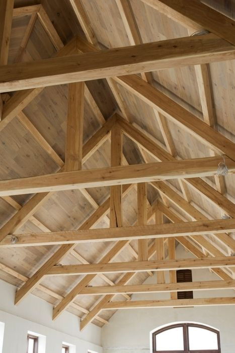 House with exposed trusses design products for Exposed roof trusses images