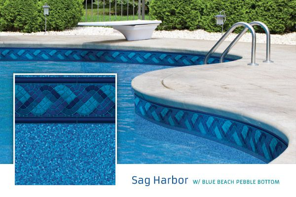 Sag Harbor W Blue Beach Pebble Bottom Dark Blue Base