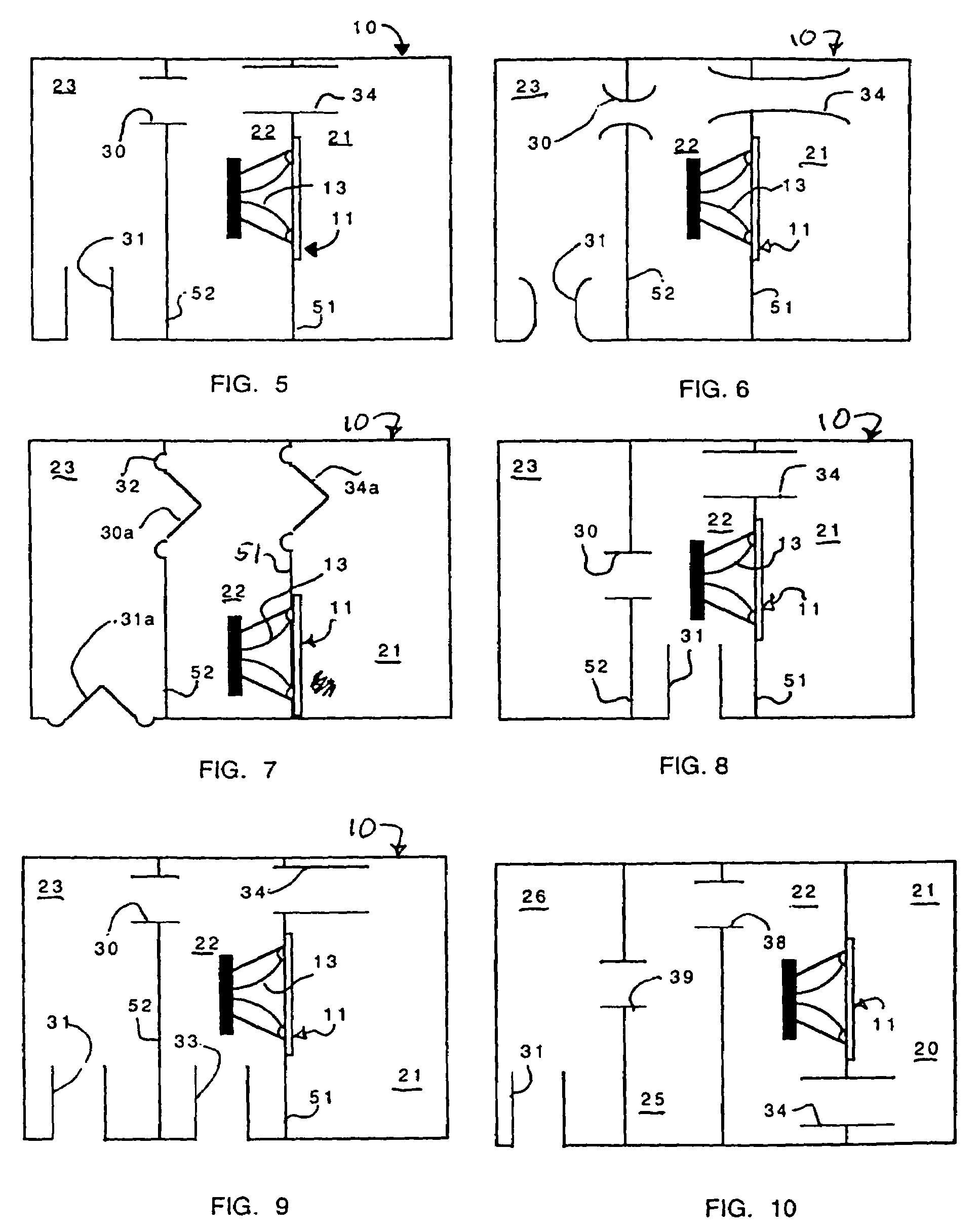 Patent Us7103193 Bandpass Woofer Enclosure With Multiple Acoustic Fibers Google Patents Subwoofer Box Design Speaker Plans Subwoofer Box