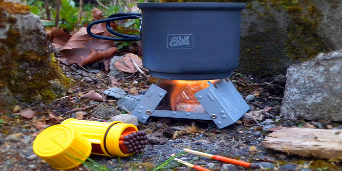Backpacking  or camping stoves are far more efficient than a campfire for cooking (it boil water very quickly) and will still work in any we...