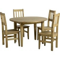 Corona Mexican Pine Round Drop Leaf Dining Table Is Robust Yet Stylish As Made From Solid Wood A Pine Dining